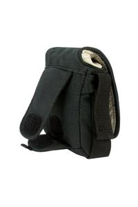 Back attachment for belts, velcro closing main flap