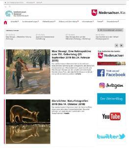 »Neue Homepage. Abschluss der Neugestaltung« Landesmuseum Hannover