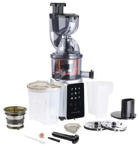 Rosenstein & Sohne 3in1-Slow-Juicer & Entsafter mit Gemuse-Reibe & Eis-Aufsatz, 200 Watt - PEARL ...