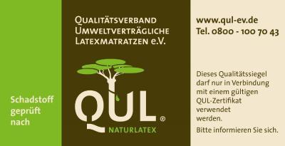 QUL-Matratzenaufkleber / Bildquelle: QUL e.V.