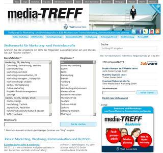 Top-Jobs für Marketing- und Vertriebsprofis bei media-TREFF
