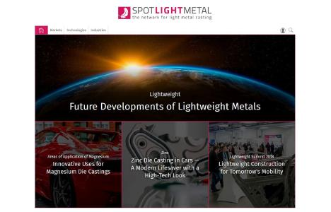 "The international portal ""Spotlightmetal"" deals with technical and economic opportunities and challenges of the light metal casting sector / Photo: Vogel Business Media"