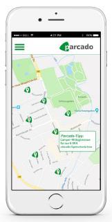 parcado App: Tipps in Map vor Ort