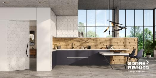3DF – Three-Dimensional Fiberboard – application (kitchen)