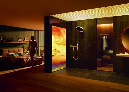 Mit RainTunes vereinen sich Wasser, Sound, Licht, Bewegtbild und Duft zu einem allumfassenden, personalisierten Duschvergnügen.