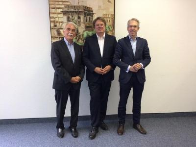 GF Herr Jürgen Bieberstein, ADKA-Präsident Prof. Frank Dörje, Leiter der Geschäftsstelle Herr Markus Bazan (Foto: ADKA)