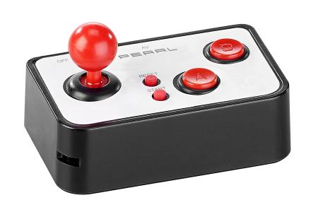 MGT Mobile Games Technology  Retro-Videospiel-Controller mit 200 8-Bit-Games und TV-Anschluss /  Copyright: PEARL. GmbH / www.pearl.de