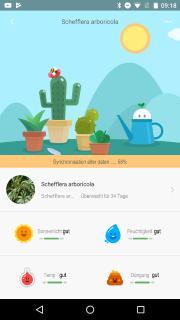Royal Gardineer 4in1-Pflanzensensor m. Bluetooth, App-Kontrolle, 1 Jahr Laufzeit, IPX5