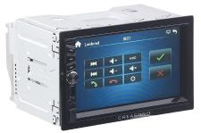 Creasono 2-DIN-MP3-Autoradio mit Touchdisplay, Bluetooth, Freisprecher, 4x 45 Watt