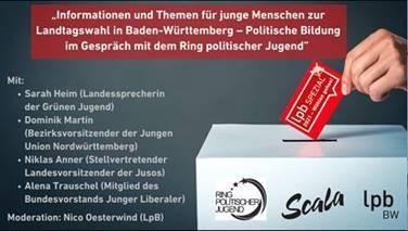 Film für junge Menschen zur Landtagswahl 2021: Film für junge Menschen zur Landtagswahl 2021. Foto: LpB BW
