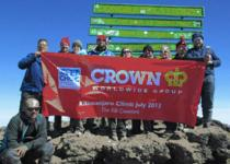Crown Team Climbs Kilimanjaro to Support CHOC