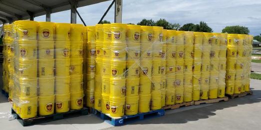 Notfallbehälter für Einsätze bei Naturkatastrophen