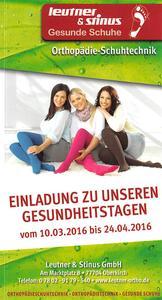 Flyer / Im Sanitätshaus Leutner & Stinus in Oberkirch gibt es im März und April zahlreiche Aktionen für einen aktiven Start in den Frühling