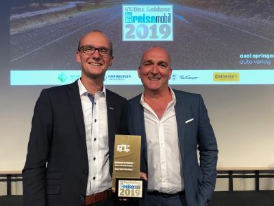 Der KNAUS VAN TI PLUS erhielt den Sonderpreis für die beste Fahrzeug-Neuheit 2019. Foto: Knaus Tabbert GmbH