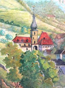 Bad Berneck Kirche Ansicht um 1750