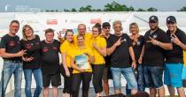 Sieger LANDES-Grillmeisterschaft MV 2019 - 3. Platz: Rügen BBQ, Sassnitz (links), 2. Platz: die Brandstifter, Echterdingen (rechts), 1. Platz: 3 Engel für Christoph, Güstrow (Mitte), Foto: Van der Valk Resort Linstow  GmbH