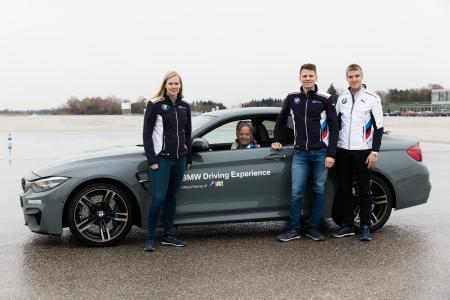 Marc Surer, Beitske Visser, Nico Menzel, Jesse Krohn, BMW M Fahrzeug