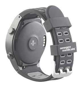 newgen medicals GPS-Handy-Uhr & Smartwatch PW-500.gps für iOS & Android
