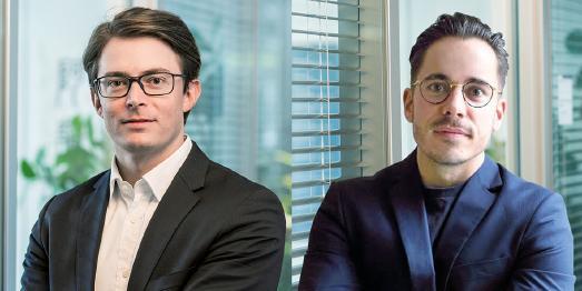 """Matthias Bauer (Vogel Business Media, li.) und David Rost (INTEGR8 media, re.) verantworten als Geschäftsführer die neue Social-Media-Agentur """"INTEGR8 social"""" / Foto: Vogel Business Media"""