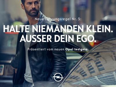 """Den Blick auf andere richten: Mit speziellen """"Guiding Tipps"""" vermittelt Opel, wofür die neue Insignia-Generation steht"""