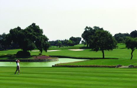 BILDUNTERSCHRIFT: Der perfekte Schwung. Mehr als 110 Golf-Plätze stehen alltours Gästen in den Urlaubsgebieten zur Verfügung, um sich vor dem Saisonbeginn in Deutschland bei sonnigem Wetter in Frühform zu bringen. Foto: alltours