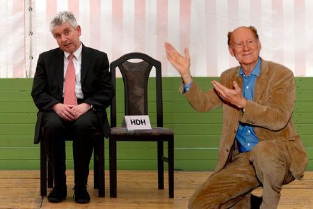 Erwin Grosche & Franz Hohler (Fotomontage: unterhaus)