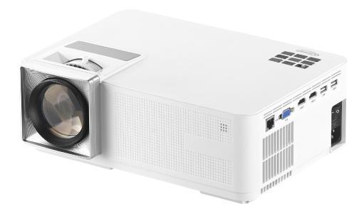 SceneLights LED-LCD-Beamer LB-9400.wifi mit WLAN, Media-Player, 1280x800 Pixel (WXGA), 3.000 lm