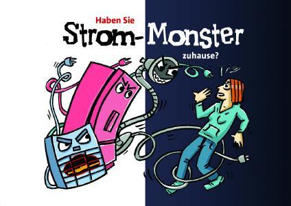 """Mit der """"Strom-Monster""""-Postkarte können Haushalte zukünftig die Stromsparhelfer von Wabeq Bremen oder dem Förderwerk Bremerhaven ganz einfach anfordern"""
