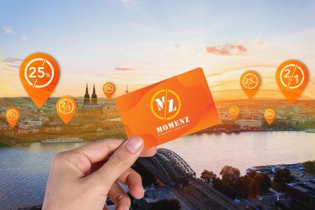 MomenZ Card vorzeigen und bei jedem Restaurantbesuch sparen. Bild zeigt Köln mit verschiedenen Locations