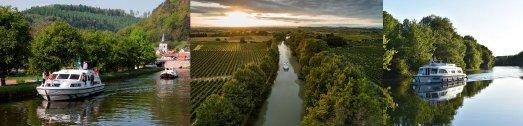 © Le Boat: Elsass, Canal du Midi/Südfrankreich (© Holger Leue), Charente/Frankreich