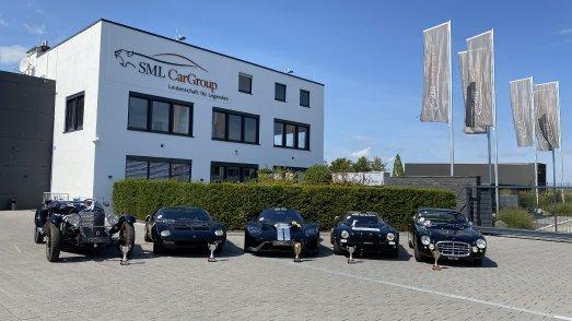 Die SML-Gewinnerfahrzeuge des Concours d'Élégance am Tegernsee  - Mercedes-Benz 680S (1928) - Lamborghini Miura SV (1971) - Ford GT Heritage Edition 1966 (2017) - Lancia Stratos Gruppe 4 (1975) - Maserati A6G/54 Frua Coupé (1955)