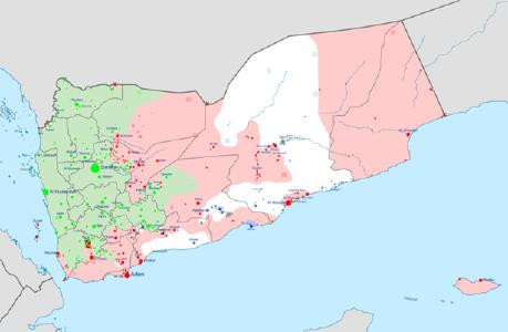 Bürgerkrieg in Jemen, nach einer Karte von Mark Monmonier / © Grafik: Ali Zifan/Wikimedia Commons