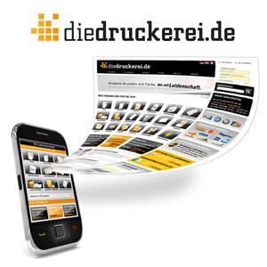 Drucksachen mobil via Handy bestellen