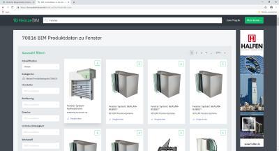 Weiterführende Informationen für nachfolgende Planungsschritte werden über das HeinzeBIM Portal und als IFC-Download bereitgestellt / Bild: ©Heinze GmbH
