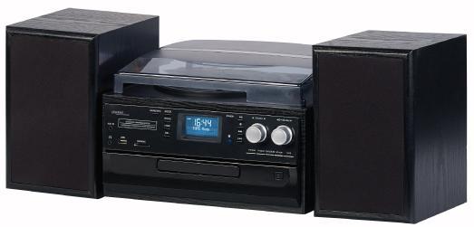 auvisio 5in1-Plattenspieler mit DAB+/FM-Radio, Bluetooth, CD-Player, Software (Bild: PEARL.GmbH)