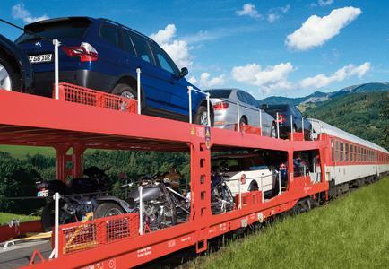 Autozug der Deutschen Bahn