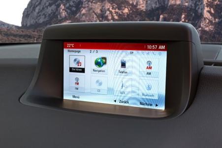 Neuer Opel Meriva mit IntelliLink. Das hochmoderne Infotainment-System wartet mit sieben Zoll großem Farbbildschirm sowie schneller und nutzerfreundlicher Navigation und Sprachsteuerung auf, © GM Company
