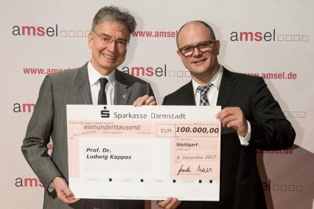 Sobek-Preisträger 2017 Prof. Dr. med. Dr. h. c. mult. Ludwig Kappos mit Laudator Ulrich Steinbach