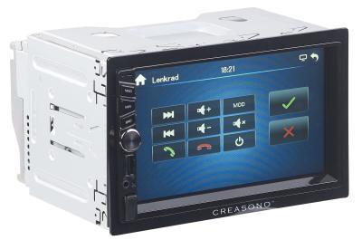 PX 2336 01 Creasono 2 DIN MP3 Autoradio mit Touchdisplay. Bluetooth und Freisprecher
