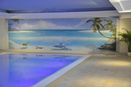 Illusionsmalerei schafft passendes Ambiente für Therapie im Wasser