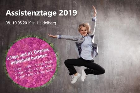 Assistenztage 2019 – Datum & Preise