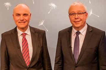 Freikirchenleiter Johannes Naether (li.) und Werner Dullinger / © Foto: Stephan G. Brass