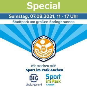 BIG Family Games bereichern Sport im Park Aachen mit einem tollen Tag für die ganze Familie.