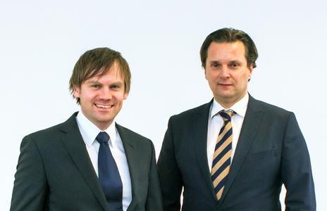 Thomas Wagner, Gründer und Mitinhaber Unister Holding (links), Andreas Prokop, neuer Geschäftsführer für das operative Geschäft (COO) (rechts)