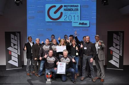 Die Harley-Factory Frankfurt freut sich über die Auszeichnung Motorradhändler des Jahres 2011