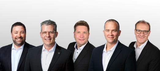 RECan Management Team (von links nach rechts): Todd Bechard, RECan Partner und Managing Director für Deutschland und Luxemburg; Brian Toole, RECan Partner; Sven J. Matten, RECan Partner und Geschäftsführer in Deutschland; Ian Stanley, RECan-Partner und CFO; Dr. Bernhard Engelbrecht, RECan Partner und Geschäftsführer in Deutschland und Luxemburg