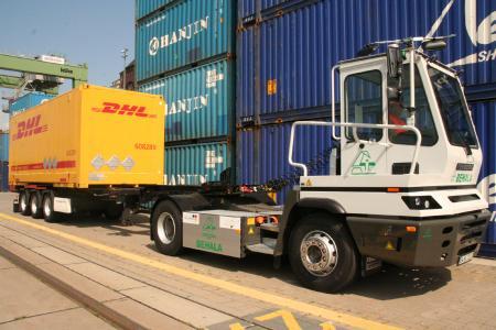 Der bislang größte Elektro-LKW mit Straßenzulassung in Berlin im Einsatz