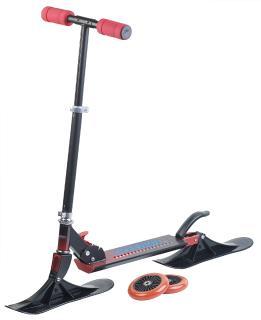 Speeron Klappbarer 2in1-Tretroller und -Snowkick-Schlitten RS-100 für Kinder, 125 mm
