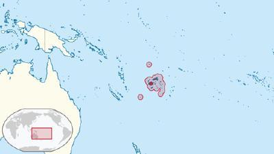 Lage von Fidschi in der Region © Grafik: TUBS/Wikimedia Commons