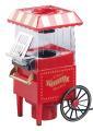 """Rosenstein & Söhne Retro-Heißluft-Popcorn-Maschine """"Vintage"""", Miniatur-Rollwagen-Optik, 1.200 Watt"""